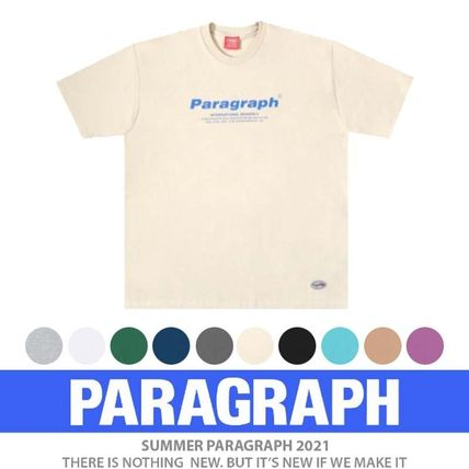 Paragraph More T-Shirts Pullovers Unisex Street Style U-Neck Cotton Short Sleeves