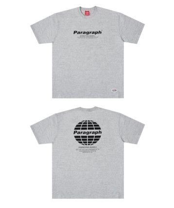 Paragraph More T-Shirts Pullovers Unisex Street Style U-Neck Cotton Short Sleeves 2