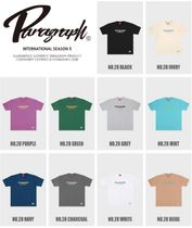 Paragraph More T-Shirts Pullovers Unisex Street Style U-Neck Cotton Short Sleeves 12