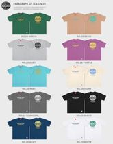 Paragraph More T-Shirts Pullovers Unisex Street Style U-Neck Cotton Short Sleeves 14