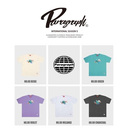 Paragraph More T-Shirts Unisex Street Style Cotton Short Sleeves Oversized T-Shirts 2