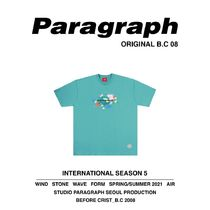 Paragraph More T-Shirts Unisex Street Style Cotton Short Sleeves Oversized T-Shirts 12