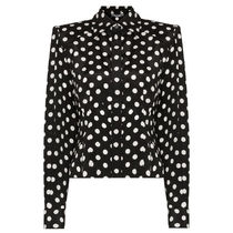 Dolce & Gabbana Dots Casual Style Silk Long Sleeves Medium Party Style