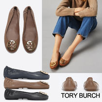 Tory Burch Round Toe Casual Style Street Style Leather Office Style