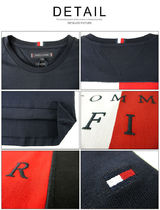 Tommy Hilfiger Crew Neck Crew Neck Pullovers Unisex Street Style Cotton Short Sleeves 9