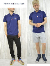 Tommy Hilfiger Polos Pullovers Unisex Street Style Cotton Short Sleeves 5
