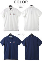 Tommy Hilfiger Polos Pullovers Unisex Street Style Cotton Short Sleeves 6