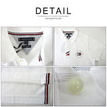 Tommy Hilfiger Polos Pullovers Unisex Street Style Cotton Short Sleeves 10