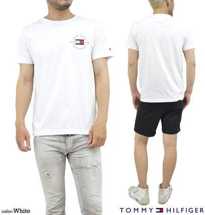 Tommy Hilfiger Crew Neck Crew Neck Pullovers Unisex Street Style Cotton Short Sleeves 2