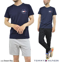 Tommy Hilfiger Crew Neck Crew Neck Pullovers Unisex Street Style Cotton Short Sleeves 4