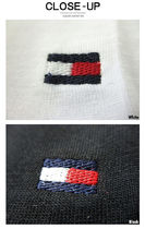 Tommy Hilfiger Crew Neck Crew Neck Pullovers Unisex Street Style Cotton Short Sleeves 13