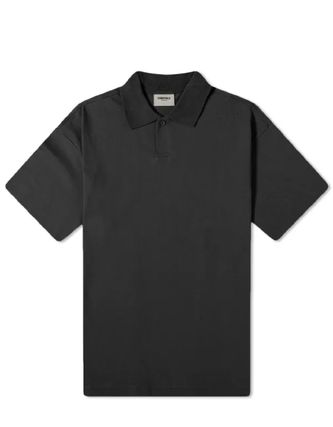 FEAR OF GOD ESSENTIALS Street Style Short Sleeves Logo Front Button Polos