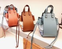 LOEWE Casual Style Canvas Leather Purses Crossbody Bucket Bags