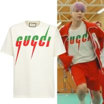 GUCCI Crew Neck Crew Neck Pullovers Unisex Street Style Cotton Short Sleeves 11