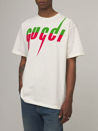 GUCCI Crew Neck Crew Neck Pullovers Unisex Street Style Cotton Short Sleeves 3