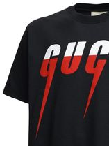 GUCCI Crew Neck Crew Neck Pullovers Unisex Street Style Cotton Short Sleeves 9