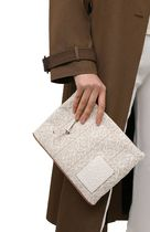 LOEWE Oblong Anagram Pouch In Jacquard And Calfskin