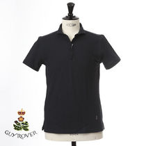 GUY ROVER Pullovers Plain Cotton Short Sleeves Logo Tops