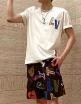 Louis Vuitton More T-Shirts Street Style Cotton Short Sleeves Logo Luxury T-Shirts 5
