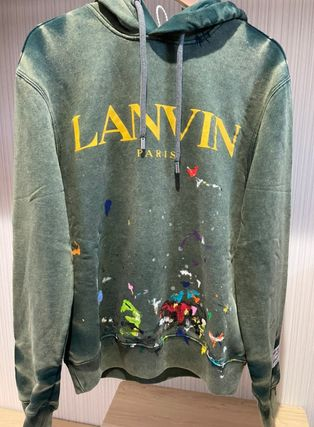 GALLERY DEPT. Hoodies Pullovers Street Style Collaboration Long Sleeves Cotton