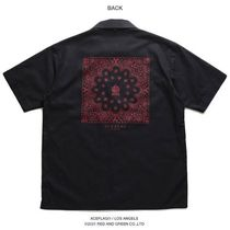 Shirts Button-down Paisley Unisex Street Style Cotton Short Sleeves 11