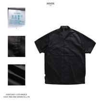 Shirts Button-down Paisley Unisex Street Style Cotton Short Sleeves 14