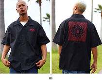 Shirts Button-down Paisley Unisex Street Style Cotton Short Sleeves 4