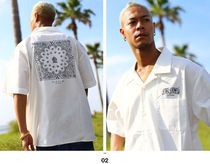 Shirts Button-down Paisley Unisex Street Style Cotton Short Sleeves 5