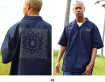 Shirts Button-down Paisley Unisex Street Style Cotton Short Sleeves 6