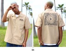 Shirts Button-down Paisley Unisex Street Style Cotton Short Sleeves 7