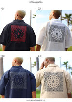 Shirts Button-down Paisley Unisex Street Style Cotton Short Sleeves 8