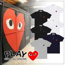 COMME des GARCONS Casual Style Plain Short Sleeves Logo Polos