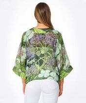 ONE HUNDRED STARS Shawls Short Flower Patterns Paisley Tropical Patterns Casual Style 7