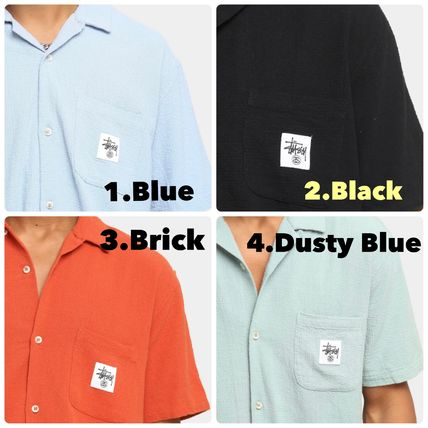 STUSSY Shirts Button-down Paisley Street Style Plain Cotton Short Sleeves 2
