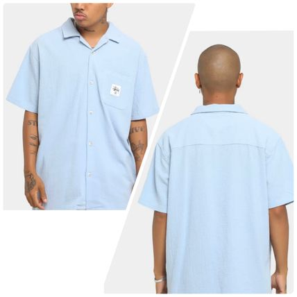 STUSSY Shirts Button-down Paisley Street Style Plain Cotton Short Sleeves 3