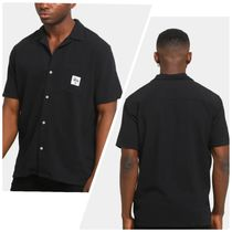 STUSSY Shirts Button-down Paisley Street Style Plain Cotton Short Sleeves 5