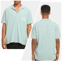 STUSSY Shirts Button-down Paisley Street Style Plain Cotton Short Sleeves 9