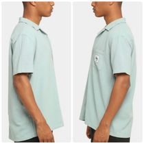 STUSSY Shirts Button-down Paisley Street Style Plain Cotton Short Sleeves 10