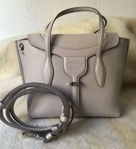 TOD'S Calfskin 2WAY Plain Leather Party Style Office Style
