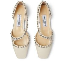 Jimmy Choo Square Toe Casual Style Plain Leather Party Style