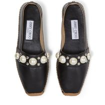 Jimmy Choo Square Toe Casual Style Studded Plain Leather Office Style