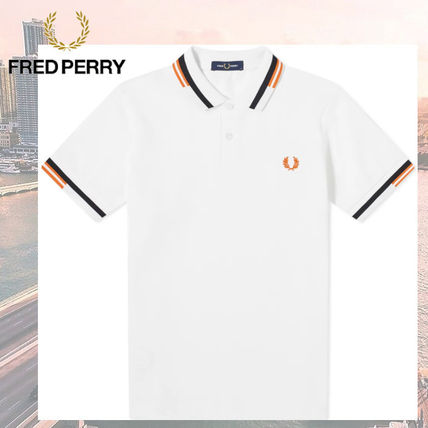 FRED PERRY Polos Unisex Short Sleeves Logo Polos