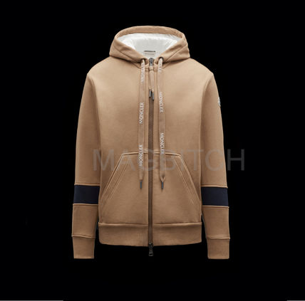 MONCLER Hoodies Pullovers Nylon Blended Fabrics Street Style Long Sleeves