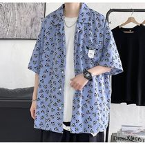 Shirts Heart Street Style Bi-color Cotton Short Sleeves Oversized 5
