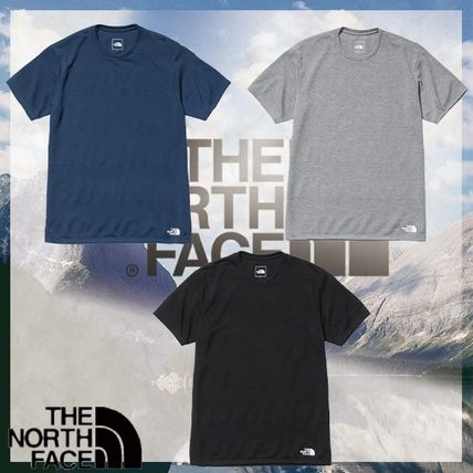 THE NORTH FACE More T-Shirts Stripes Street Style U-Neck Short Sleeves Logo Outdoor