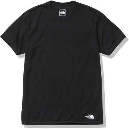 THE NORTH FACE More T-Shirts Stripes Street Style U-Neck Short Sleeves Logo Outdoor 3