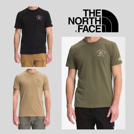 THE NORTH FACE Crew Neck Men's Short Sleeve Novelty Graphic Camp Tee