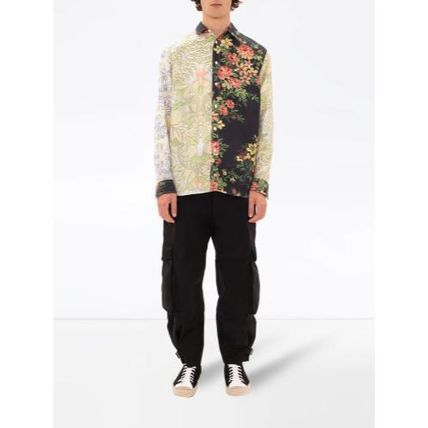 J W ANDERSON Shirts Flower Patterns Unisex Long Sleeves Designers Shirts 2