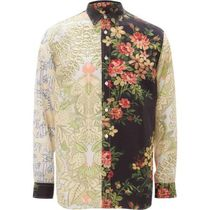 J W ANDERSON Shirts Flower Patterns Unisex Long Sleeves Designers Shirts 6
