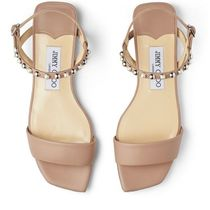 Jimmy Choo Open Toe Casual Style Blended Fabrics Plain Leather